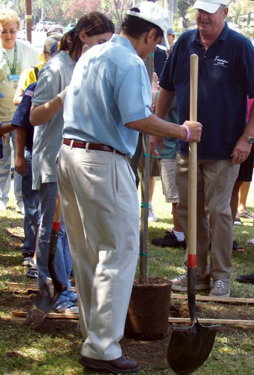 Mayor Planting Tree  2