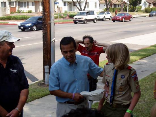 Mayor Antonio Villaraigosa & Scout