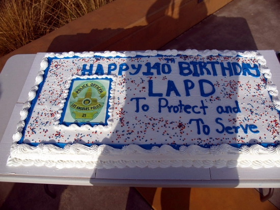141th LAPD Birthday Cake  3