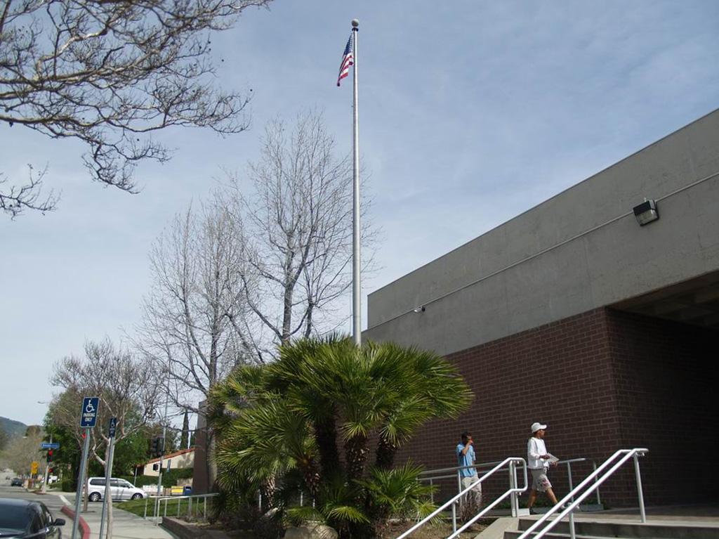 Flag Front Of Station