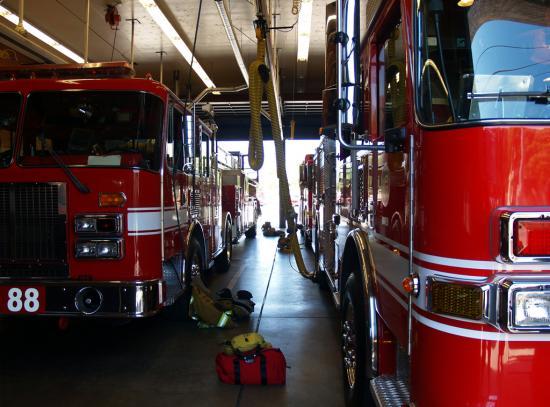 Fire Trucks In Station 88