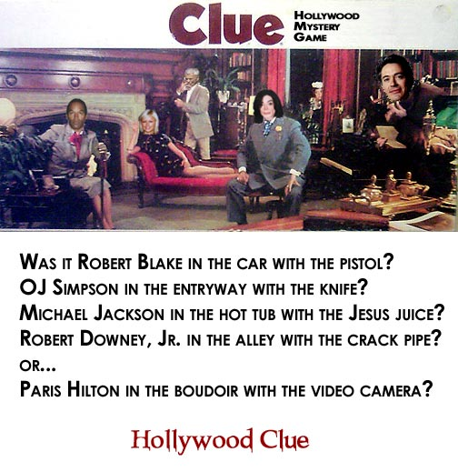 Clue Hollywood Mystery Game