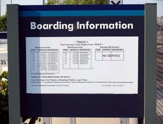 Train Boarding Information