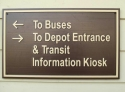 Buses & Depot Entrance Sign