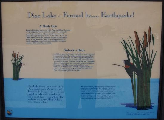 Diaz Lake Plaque