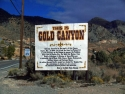 Gold Canyon Sign