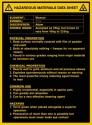 Hazardous Materials Data Sheet