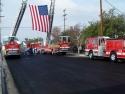 Ladder Trucks And Flag  1