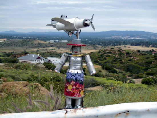 Robots Planes And Mountain Art 10